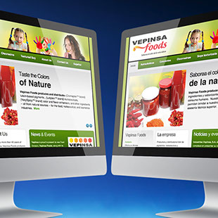 Vepinsa Foods website